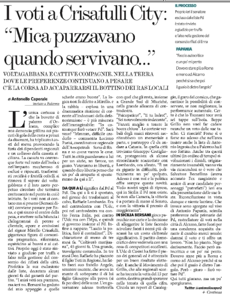 Il Fatto Quotidiano, 26.01.2013