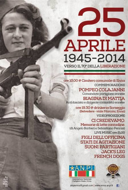 Locandina 25 aprile Enna